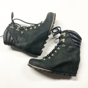 SOREL Conquest Waterproof Leather Ankle Boot Wedge
